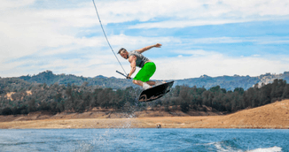 Fun with wakeboarding