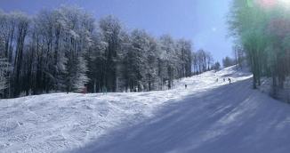 Adventure awaits at ski center Uzana, slope