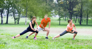 Yoga, Conditioning workout and Aerobics